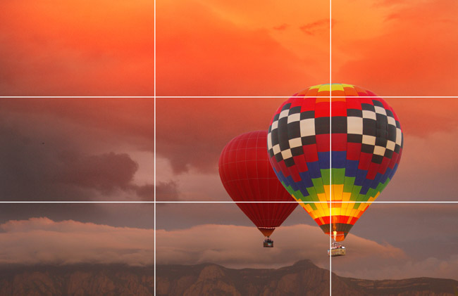 And in this one, the balloons fall along the left line of the photograph. This also gives them somewhere to go instead of just flying right out of the photograph as it would look if they were too close to the right side.