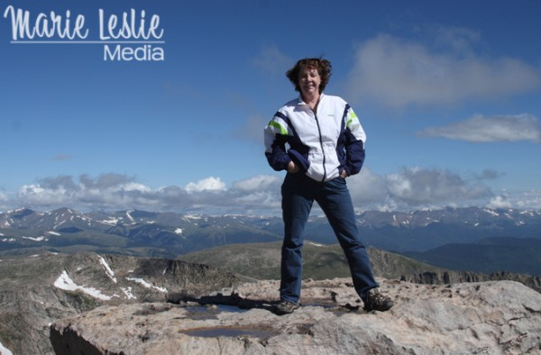 Marie Leslie on top of the world