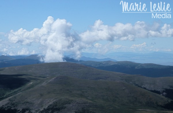 A panoramic view of the Rocky Mountains from Mt. Evans, Colorado