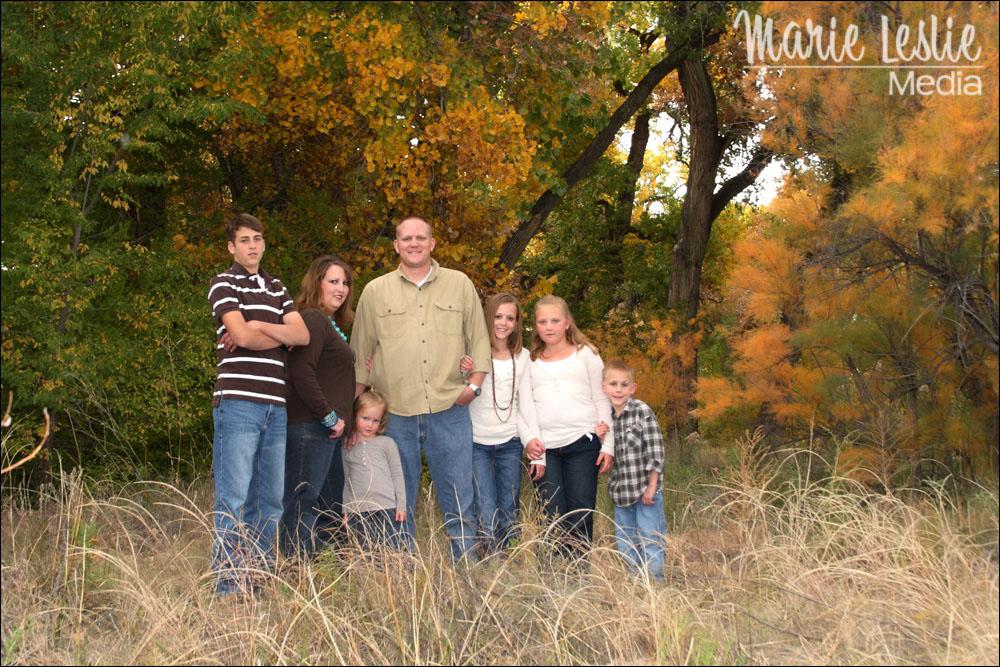 family portrait, fall portrait, family