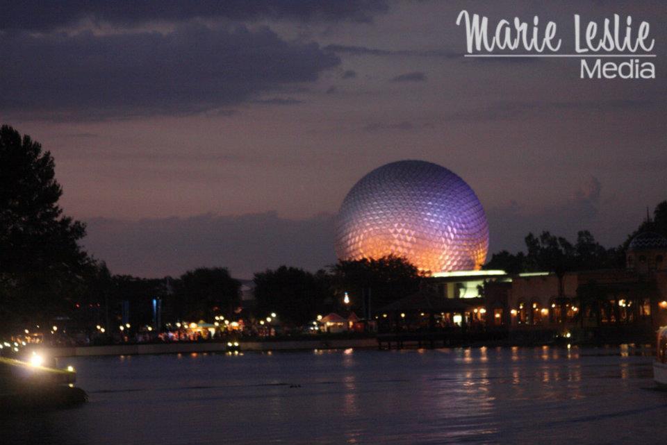 Epcot at Twilight, Disneyworld, Orlando, FLorida
