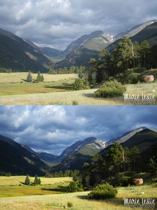 rocky mountain national park, landscape, photoshop actions