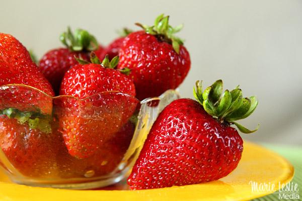 strawberries, red, yellow
