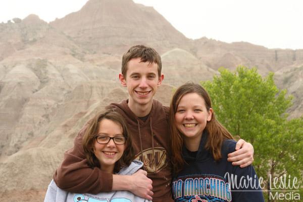 teens at badlands national park