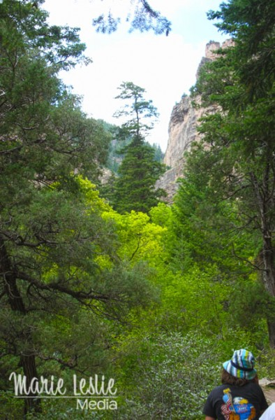 view from hanging lake