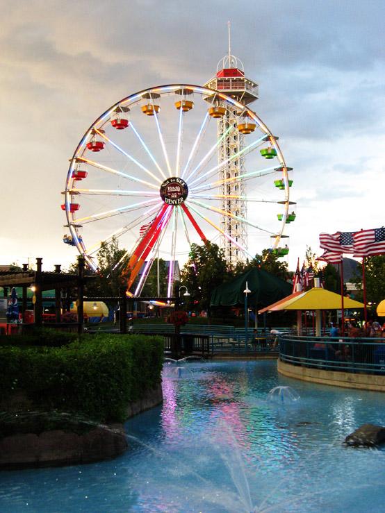 ferris wheel at dusk