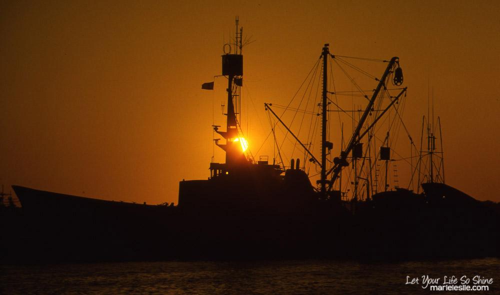 sunset on the tuna fleet
