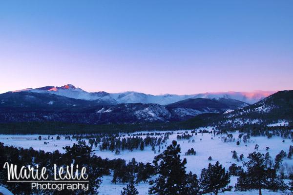 Longs Peak Sunrise Rocky Mountain National Park