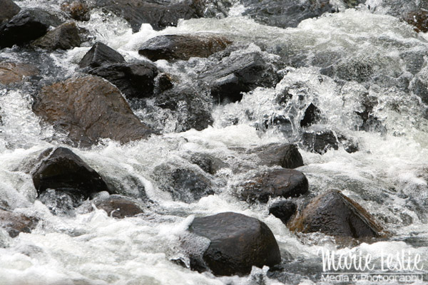 river with high shutter speed