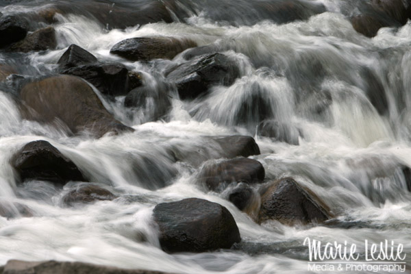 river with show shutter speed