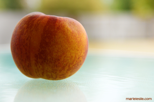 peach fabulous food photography