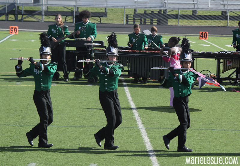 flute players marching band competition