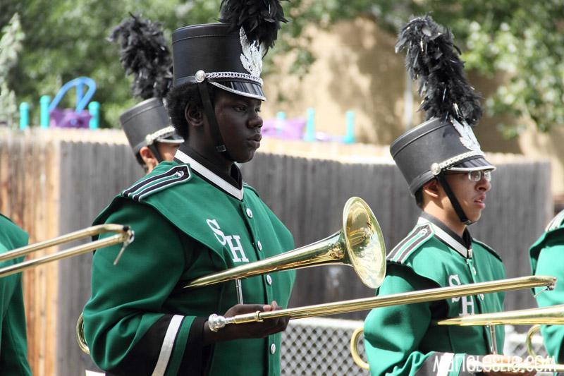 marching band trombone player