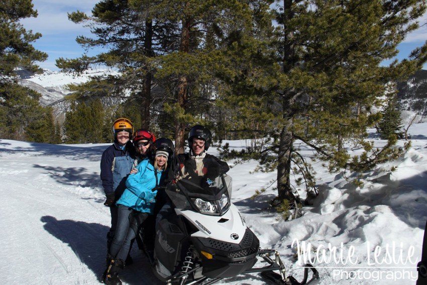 Vail snowmobile with my kids