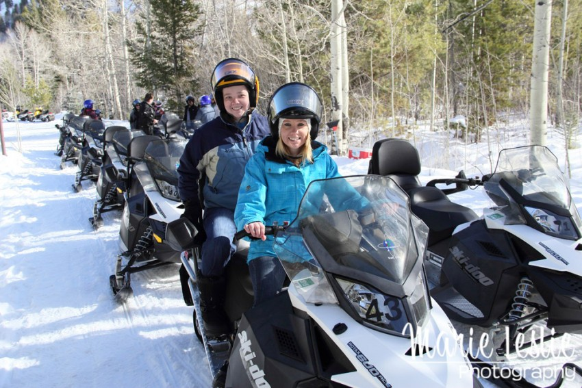 snowmobiling in Vail