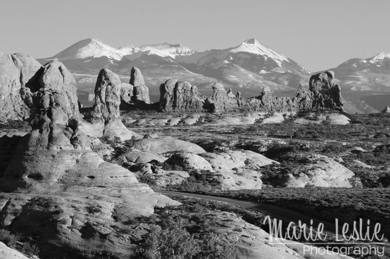 La Sal Mountains from Arches